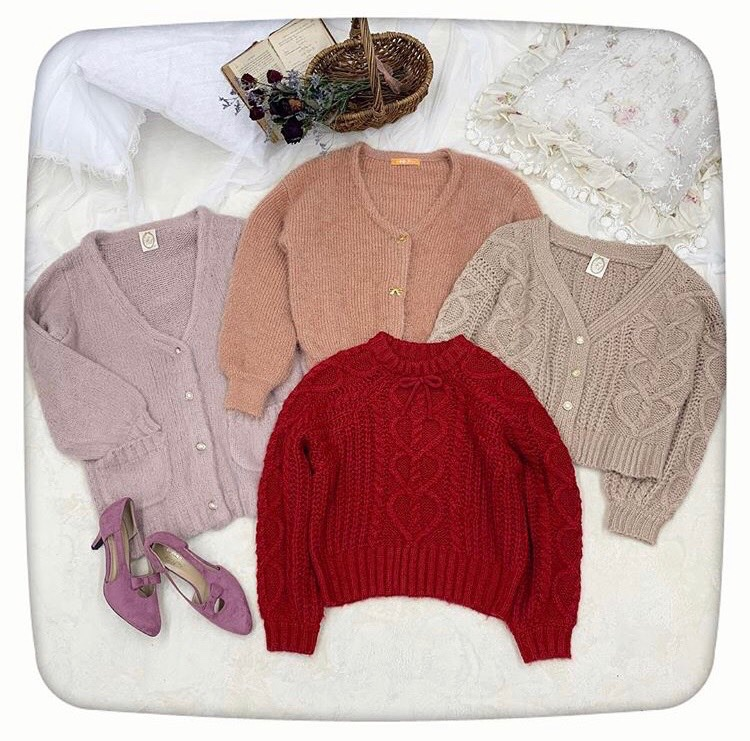 ?PINK&RED KNIT COLLECTION?